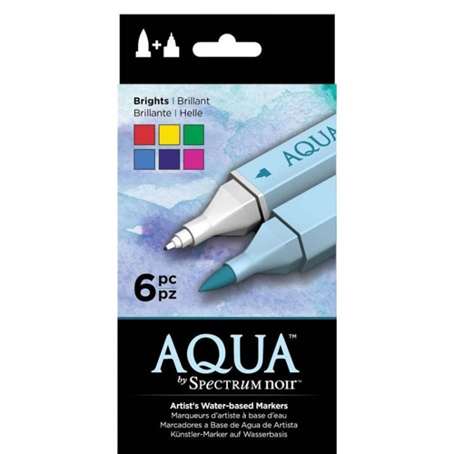 Crafter's Companion BRIGHTS Spectrum Aqua Markers specn-sq6-bri Preview Image