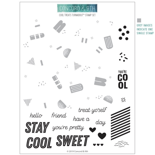 Concord & 9th COOL TREATS TURNABOUT Clear Stamp Set 10604 Preview Image