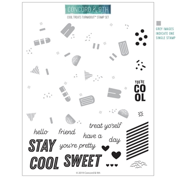 Concord & 9th COOL TREATS TURNABOUT Clear Stamp Set 10604