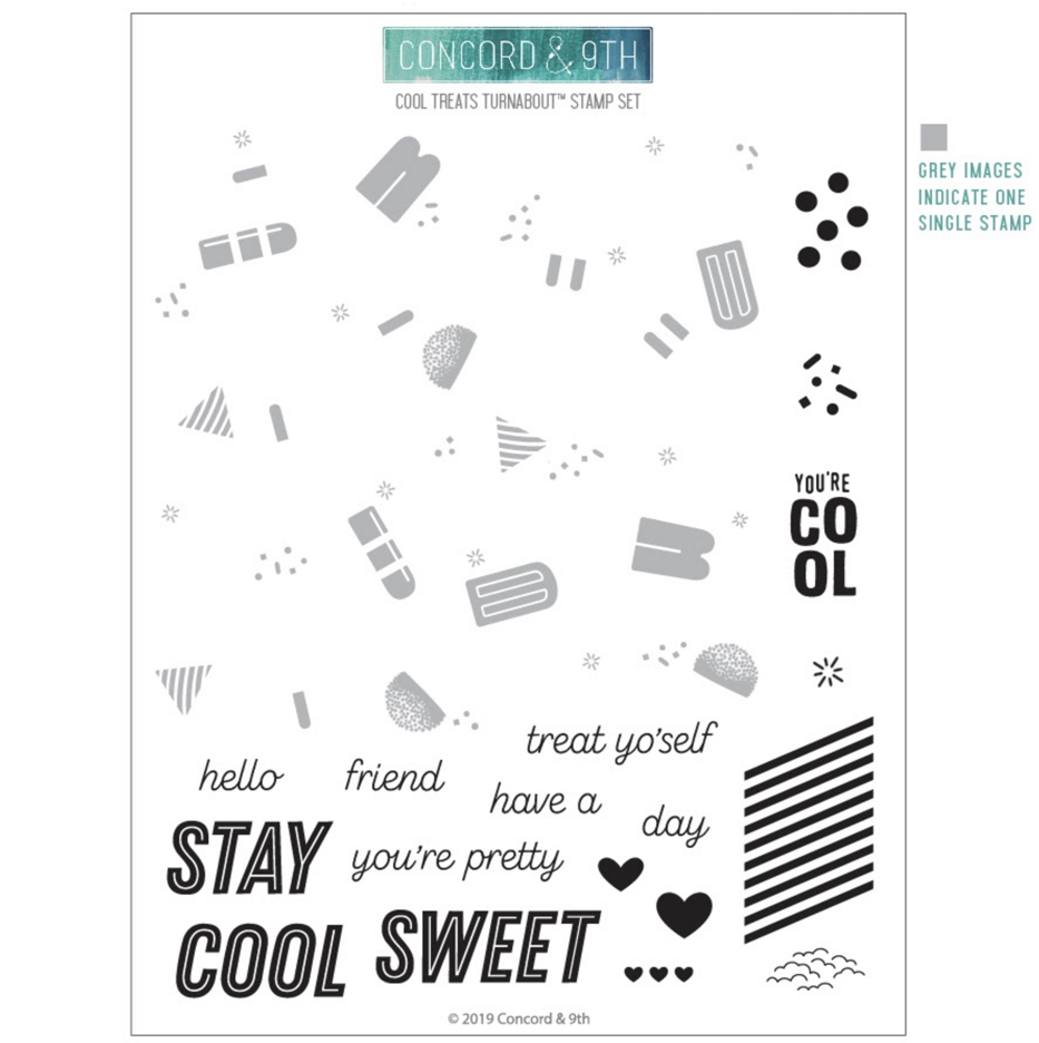 Concord & 9th COOL TREATS TURNABOUT Clear Stamp Set 10604 zoom image