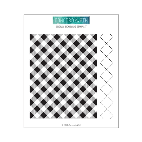 Concord & 9th GINGHAM BACKGROUND Clear Stamp Set 10608 Preview Image