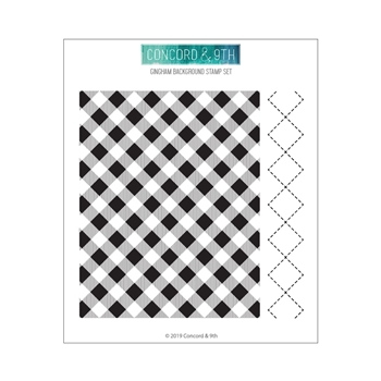 Concord & 9th GINGHAM BACKGROUND Clear Stamp Set 10608