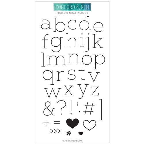 Concord & 9th SIMPLE SERIF ALPHABET Clear Stamp Set 10613 Preview Image