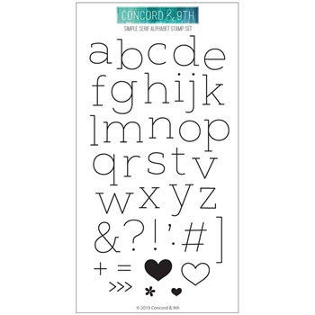 Concord & 9th SIMPLE SERIF ALPHABET Clear Stamp Set 10613