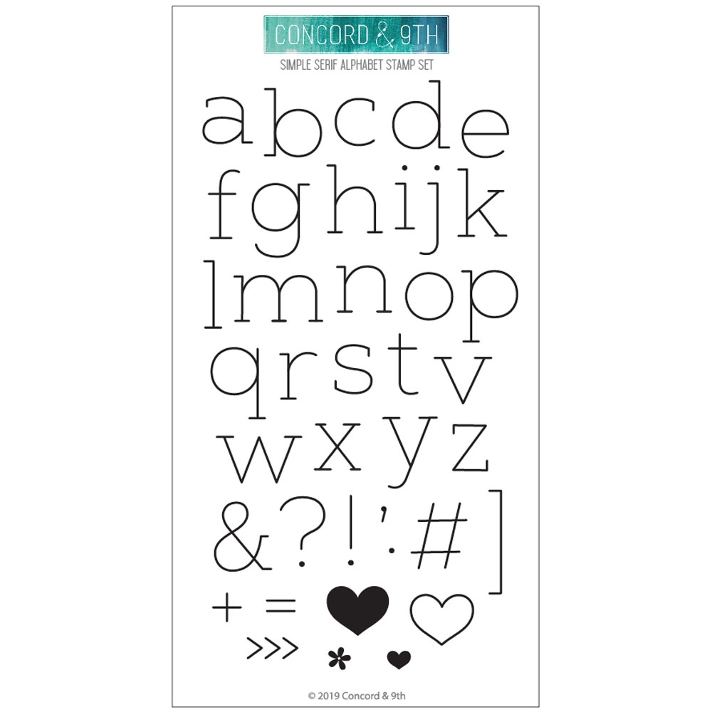 Concord & 9th SIMPLE SERIF ALPHABET Clear Stamp Set 10613 zoom image