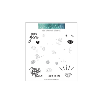 Concord & 9th GEM TURNABOUT Clear Stamp Set 10593