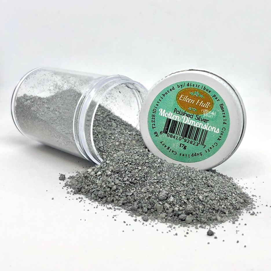 Emerald Creek POLISHED SILVER Molten Dimensions Embossing Powder mdps zoom image