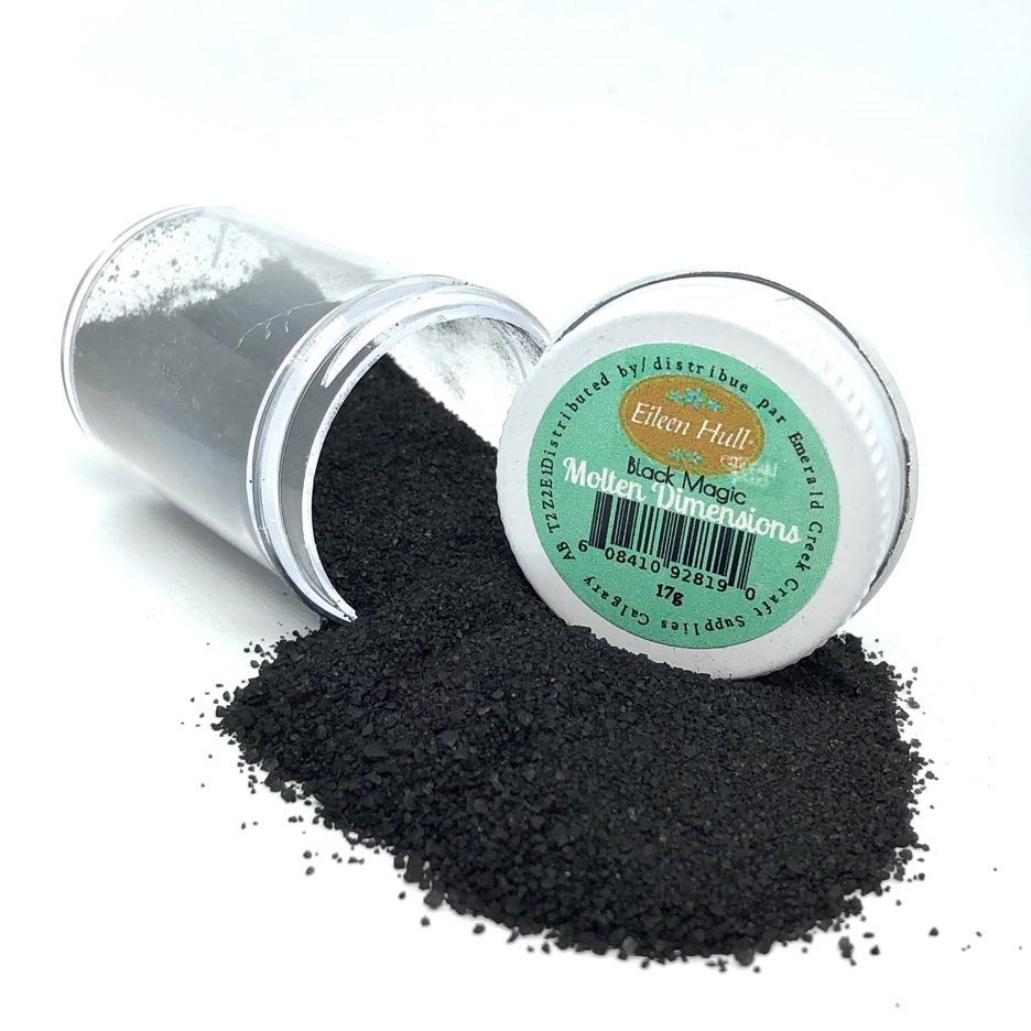Emerald Creek BLACK MAGIC Molten Dimensions Embossing Powder mdbm zoom image