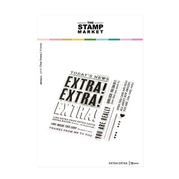 The Stamp Market EXTRA EXTRA Clear Stamp Set tsm112