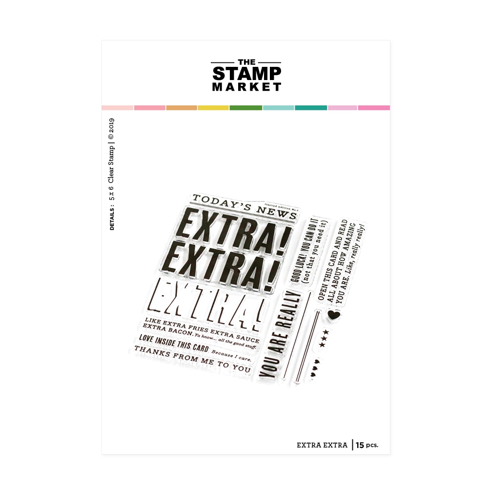 The Stamp Market EXTRA EXTRA Clear Stamp Set tsm112 zoom image
