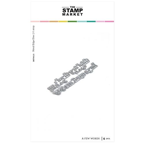 The Stamp Market A FEW WORDS Die Set tsm2096 Preview Image