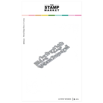 The Stamp Market A FEW WORDS Die Set tsm2096