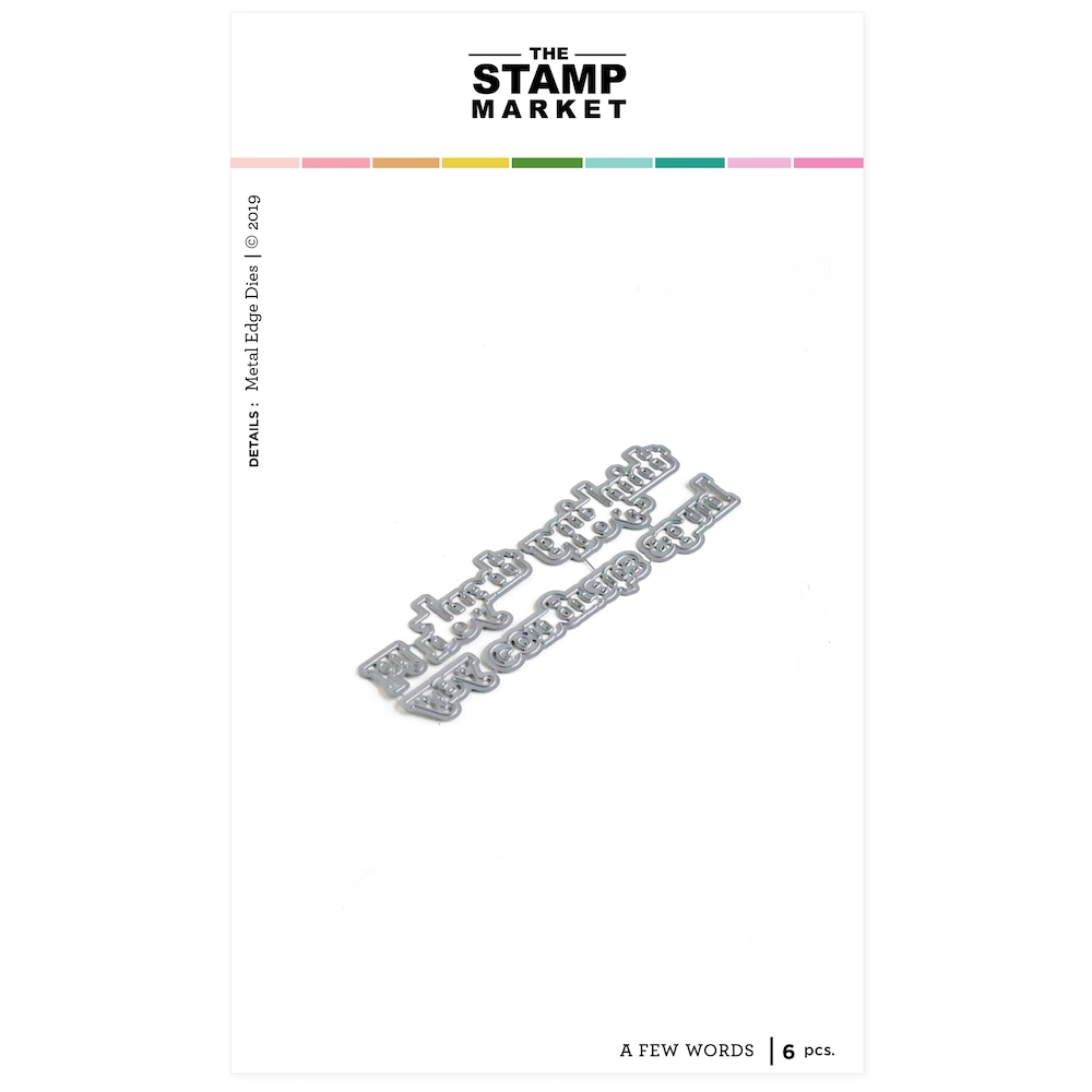 The Stamp Market A FEW WORDS Die Set tsm2096 zoom image