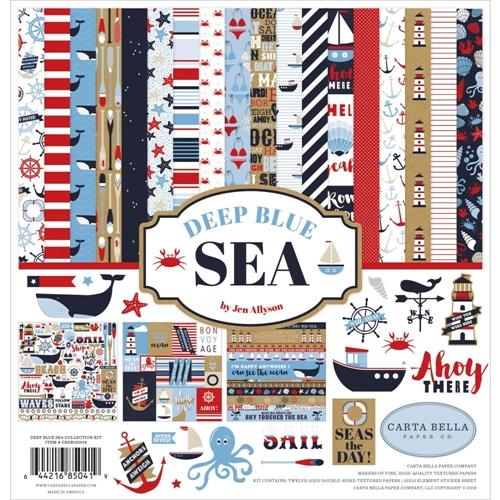 Carta Bella DEEP BLUE SEA 12 x 12 Collection Kit cbdb102016 Preview Image