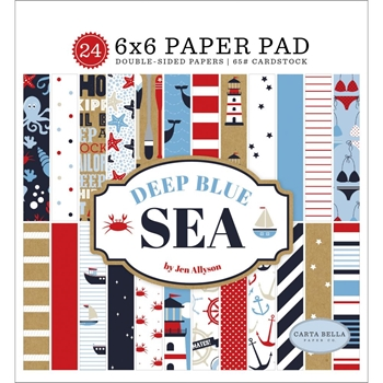 Carta Bella DEEP BLUE SEA 6 x 6 Paper Pad cbdb102023