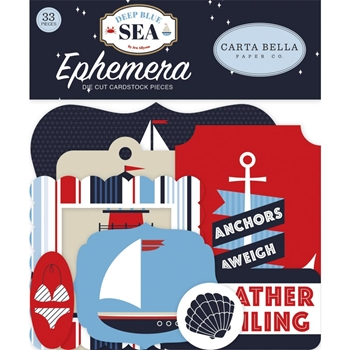 Carta Bella DEEP BLUE SEA Ephemera cbdb102024