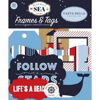 Carta Bella DEEP BLUE SEA Frames And Tags Ephemera cbdb102025