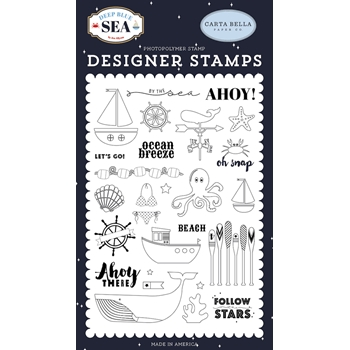 Carta Bella BY THE SEA Clear Stamp Set cbdb102043
