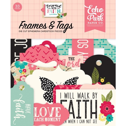 Echo Park FORWARD WITH FAITH Frames And Tags Ephemera fwf183025 Preview Image