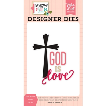 Echo Park GOD IS LOVE CROSS Die Set fwf183041