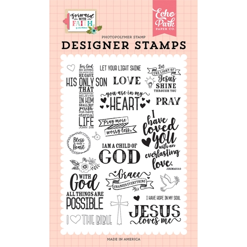 Echo Park JESUS LOVE ME Clear Stamps fwf183043 Preview Image