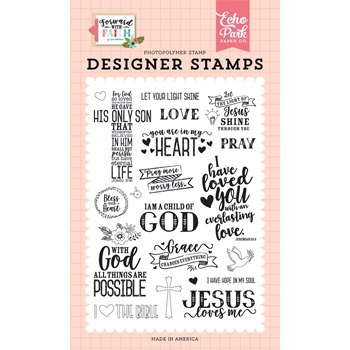 Echo Park JESUS LOVE ME Clear Stamps fwf183043