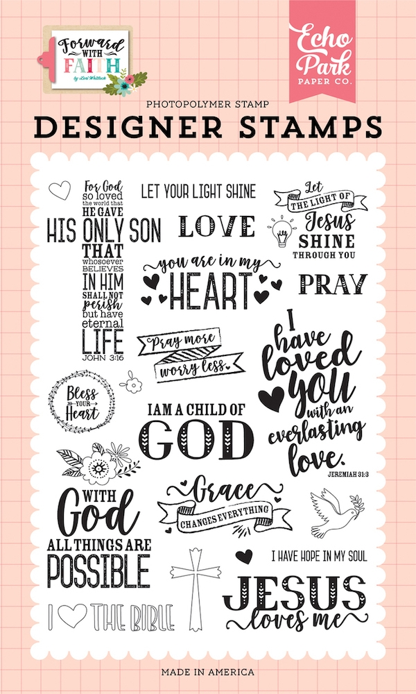 Echo Park JESUS LOVE ME Clear Stamps fwf183043 zoom image