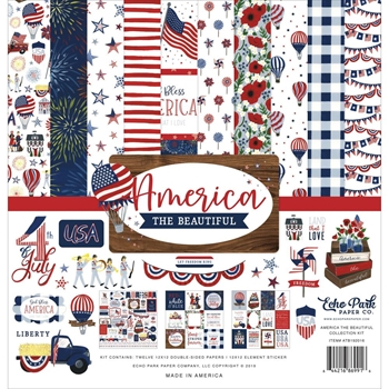 Echo Park AMERICA THE BEAUTIFUL 12 x 12 Collection Kit atb192016