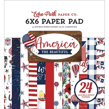 Echo Park AMERICA THE BEAUTIFUL 6 x 6 Paper Pad atb192023