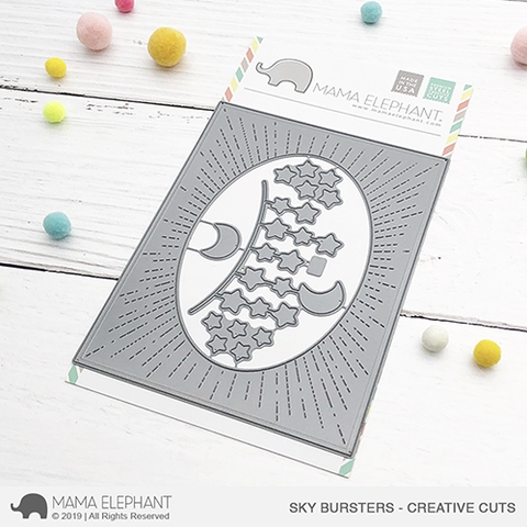 Mama Elephant SKY BURSTERS Creative Cuts Steel Dies Preview Image