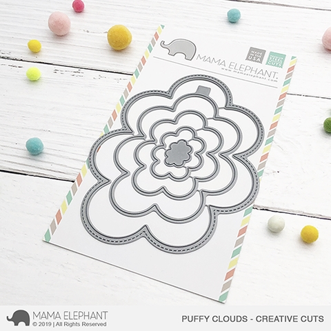 Mama Elephant PUFFY CLOUDS Creative Cuts Steel Dies Preview Image