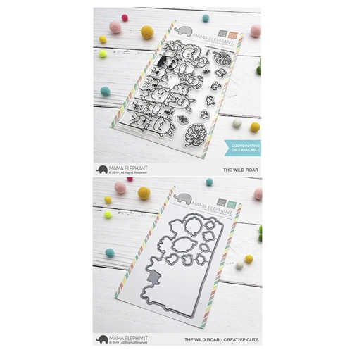 Mama Elephant Clear Stamp and Die mept633 THE Wild Roar SET Preview Image