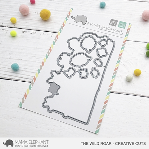 Mama Elephant THE WILD ROAR Creative Cuts Steel Dies Preview Image