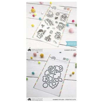 Mama Elephant Clear Stamp and Die mept636 Summer Splash SET