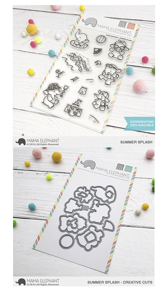 Mama Elephant Clear Stamp and Die mept636 Summer Splash SET zoom image