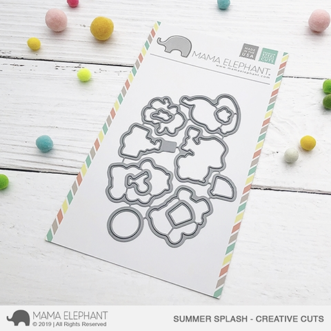 Mama Elephant SUMMER SPLASH Creative Cuts Steel Dies Preview Image