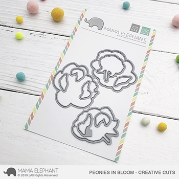 Mama Elephant PEONIES IN BLOOM Creative Cuts Steel Dies