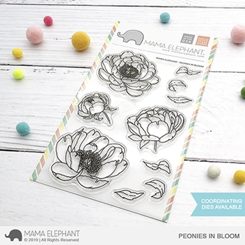Mama Elephant Clear Stamps PEONIES IN BLOOM