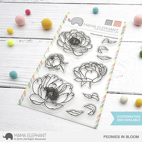 Mama Elephant Clear Stamps PEONIES IN BLOOM zoom image