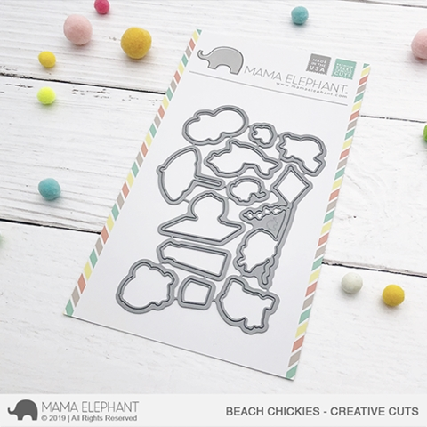 Mama Elephant BEACH CHICKIES Creative Cuts Steel Dies Preview Image