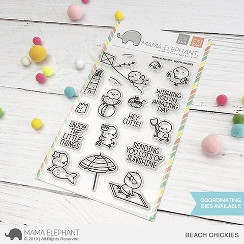 Mama Elephant Clear Stamps BEACH CHICKIES  Preview Image