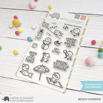 Mama Elephant Clear Stamps BEACH CHICKIES