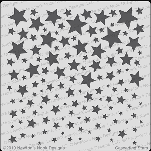 Newton's Nook Designs CASCADING STARS Stencil NN1905T02 Preview Image