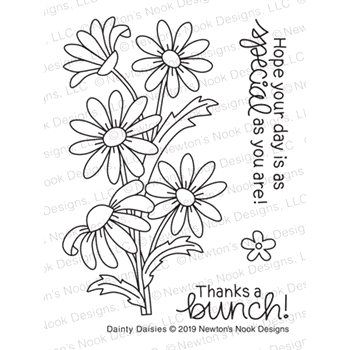 Newton's Nook Designs DAINTY DAISIES Clear Stamps NN1905S04