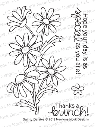 Newton's Nook Designs DAINTY DAISIES Clear Stamps NN1905S04 zoom image