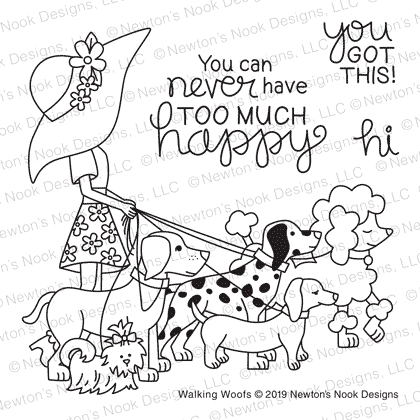 Newton's Nook Designs WALKING WOOFS Clear Stamps NN1905S03 zoom image