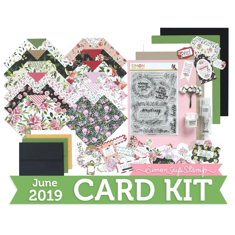 Simon Says Stamp Card Kit of The Month JUNE 2019 LEAFY FRAMES ck0619 zoom image