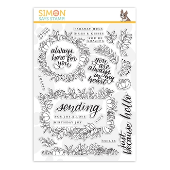 Simon Says Clear Stamps LEAFY FRAMES sss201901