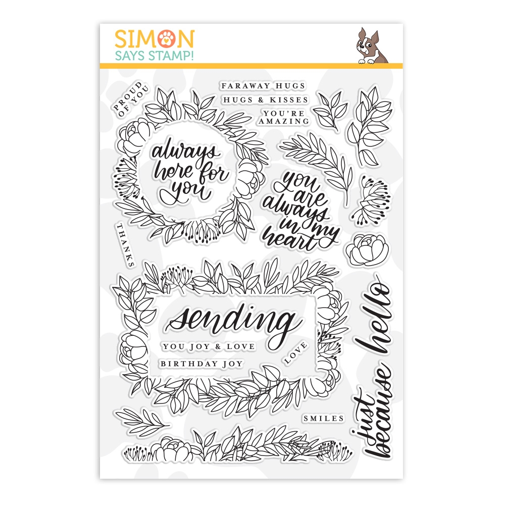 Simon Says Clear Stamps LEAFY FRAMES sss201901 zoom image