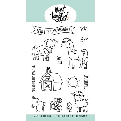 Neat and Tangled BARNYARD BUDDIES Clear Stamps NAT477* Preview Image